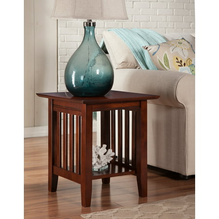 Mission Style Side Table - Mission End Table in Walnut or Caramel