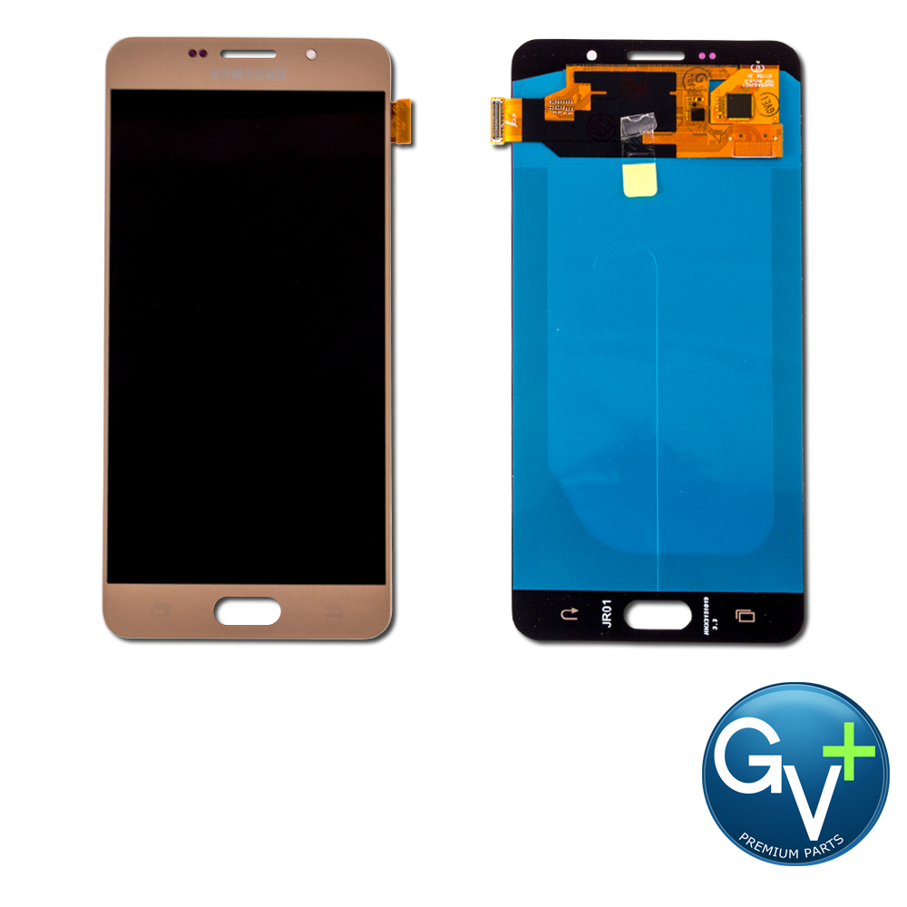 """Touch Screen Digitizer and AMOLED Front Display Assembly for Gold Samsung Galaxy A7 (2016) SM-A710 (5.5"""") - OEM"""