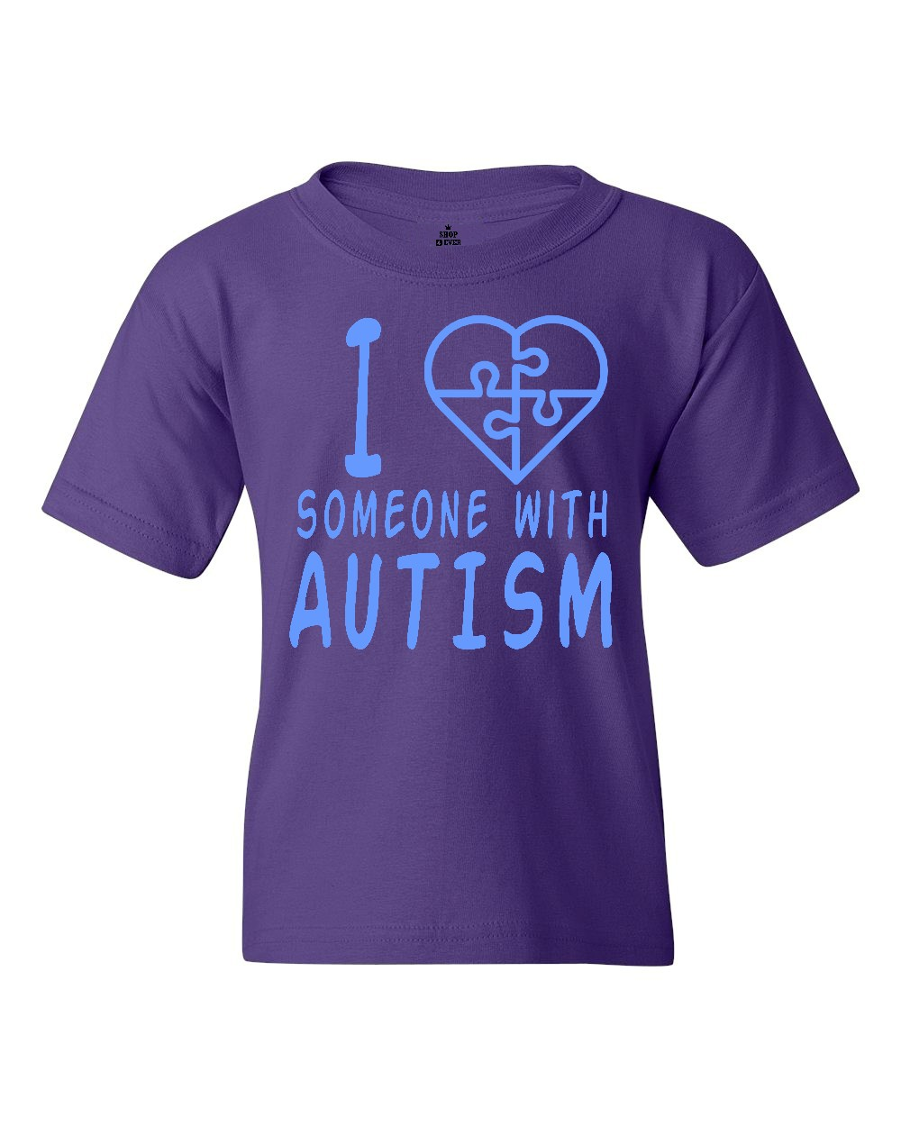 Shop4Ever Youth I Love Someone With Autism Blue Autism Awareness Graphic Youth T-Shirt