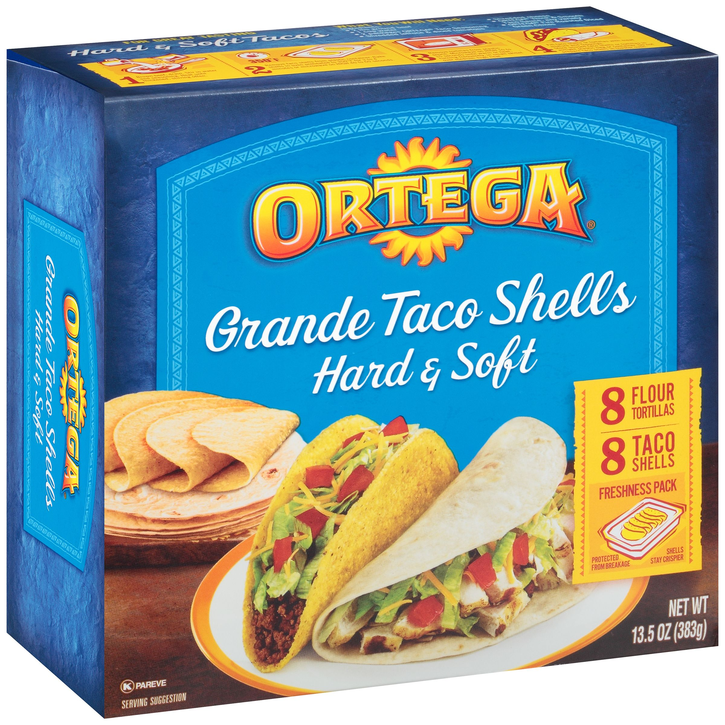 Ortega Grande Taco Shells Hard & Soft - 16 CT