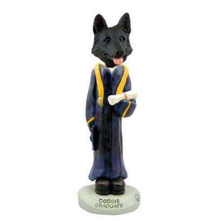 German Shepherd Black Graduate Doogie Collectable Figurine