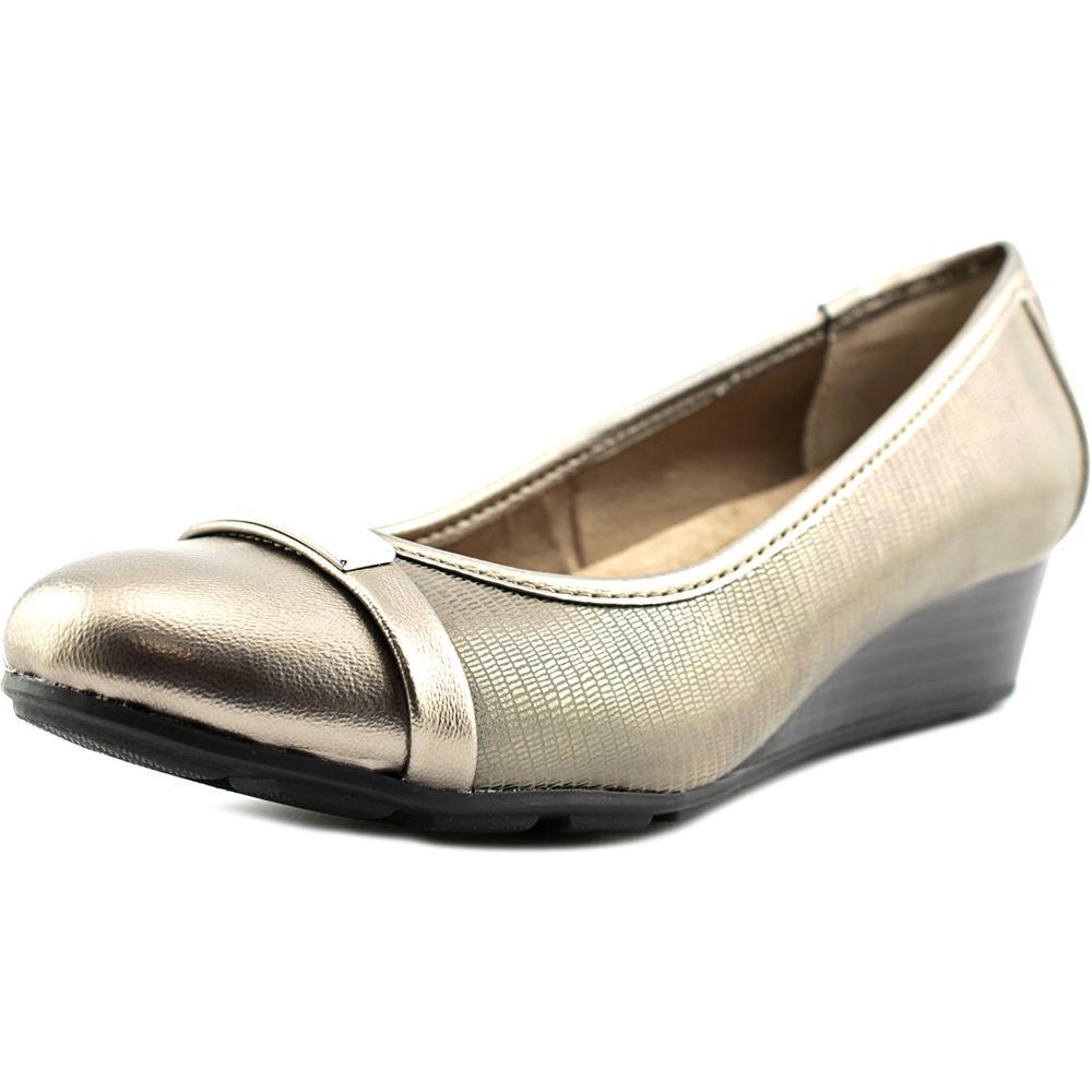 Giani Bernini Ambir Women  Open Toe Leather Silver Wedge Heel