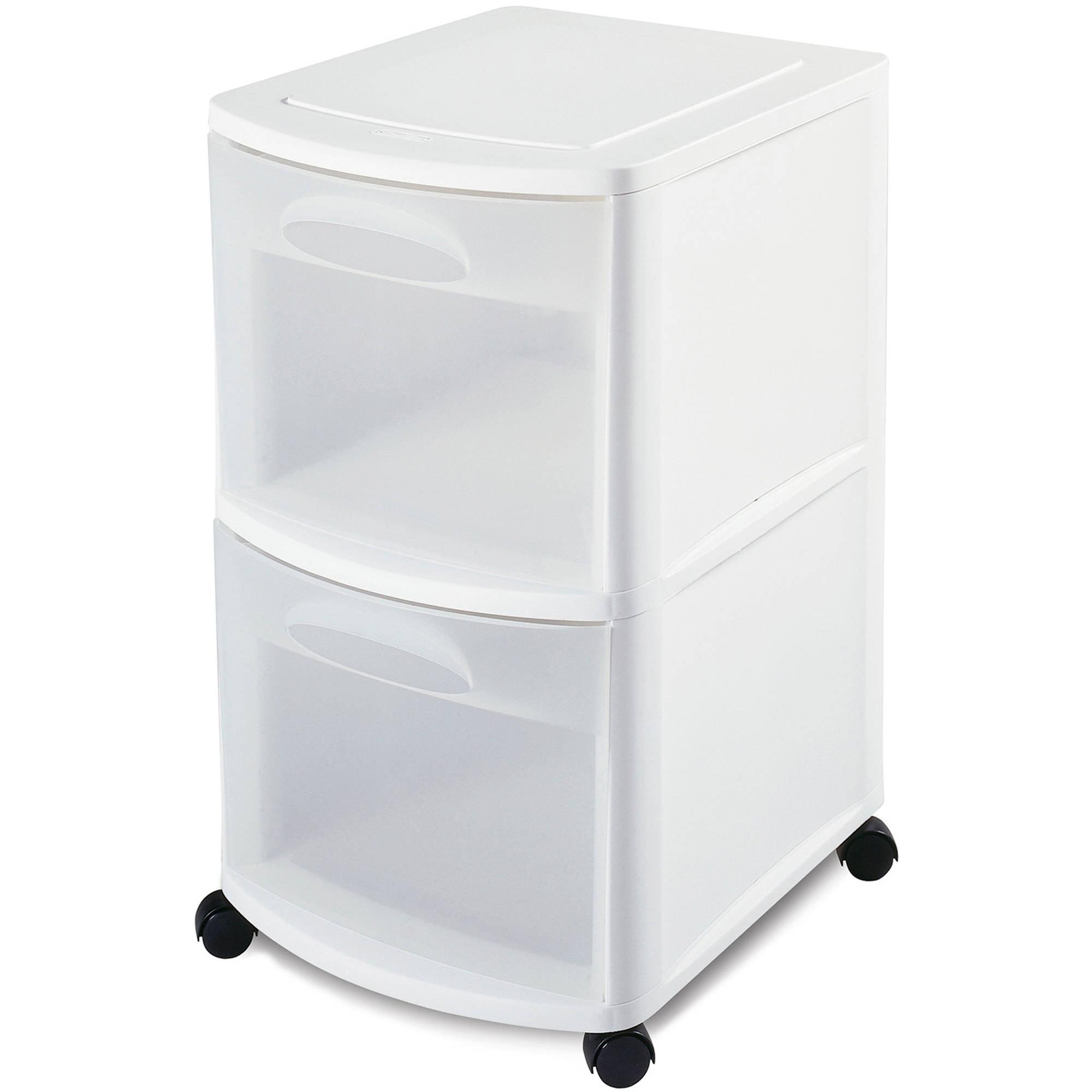 Sterilite 2 Drawer Cart- White - Walmart.com