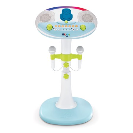 Singing Machine Kids Pedestal with lights, detachable unit, and 6 fun voice changing effects - Voice Changing