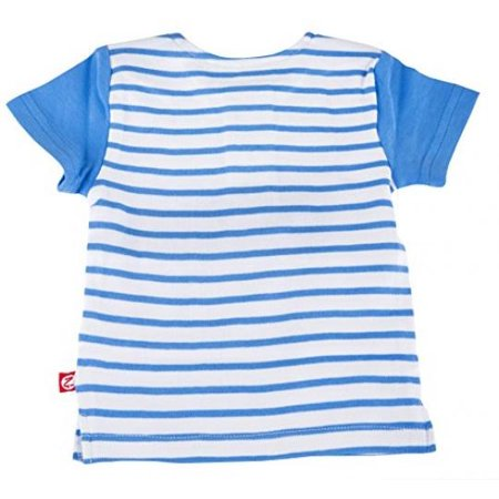 Zutano Baseball Tee- Periwinkle Breton Stripe, 24 (Zutano Bold Stripe)