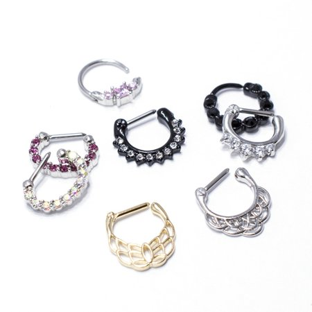 8 Septum Clickers 16G with Different Designs