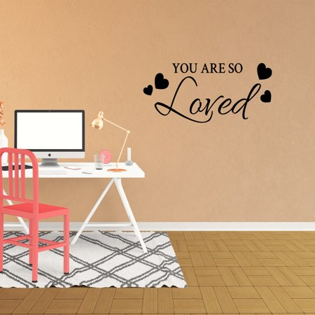 You Are So Loved Vinyl Wall Decal Quote Nursery Lettering Kids Family Words Bedroom Wedding Graphics Home Decor Sticker XJ544