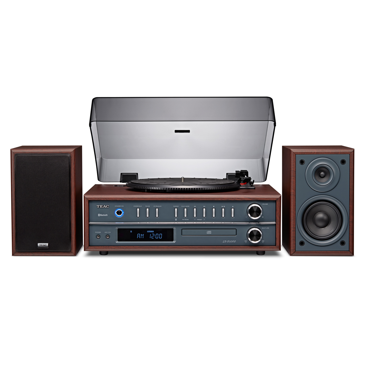 TEAC LP-P1000 Turntable Stereo System With Bluetooth/CD/Radio (Cherry)