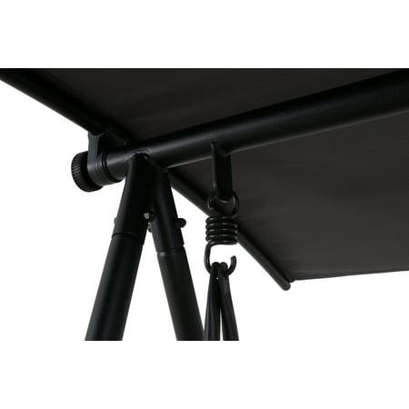 Mainstays Outdoor Patio Steel 2-Person Porch Swing, Grey Sling