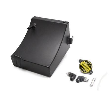 Universal Black Rectangle Car Coolant Overflow Radiator Water Tank Bottle