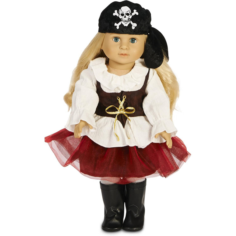 """Pirate Tutu 18"""" Doll Costume"""
