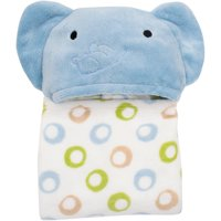 Lambs & Ivy Bedtime Originals Hooded Coral Fleece Blanket (Choose Your Character)
