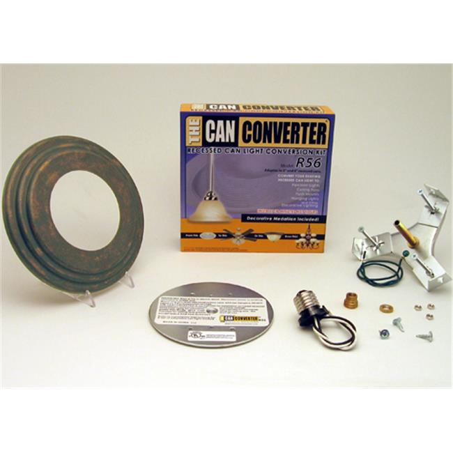 Can Converter R56-RMB-BRK 5 inch & 6 inch Recessed Can Light Converter Kit with Bark Medallion