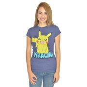 Pokemon Pikachu Women's Blue T-Shirt NEW Sizes XS-L