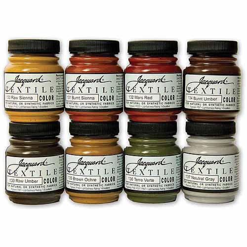 Jacquard Products Jacquard Textile Color Paint Set, Earth Tones