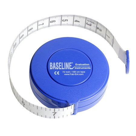 Baseline woven measurement tape with push-button retractor, 72