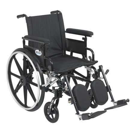 Drive Medical Viper Plus GT Wheelchair with Flip Back Removable Adjustable Full Arms, Elevating Leg Rests, 18