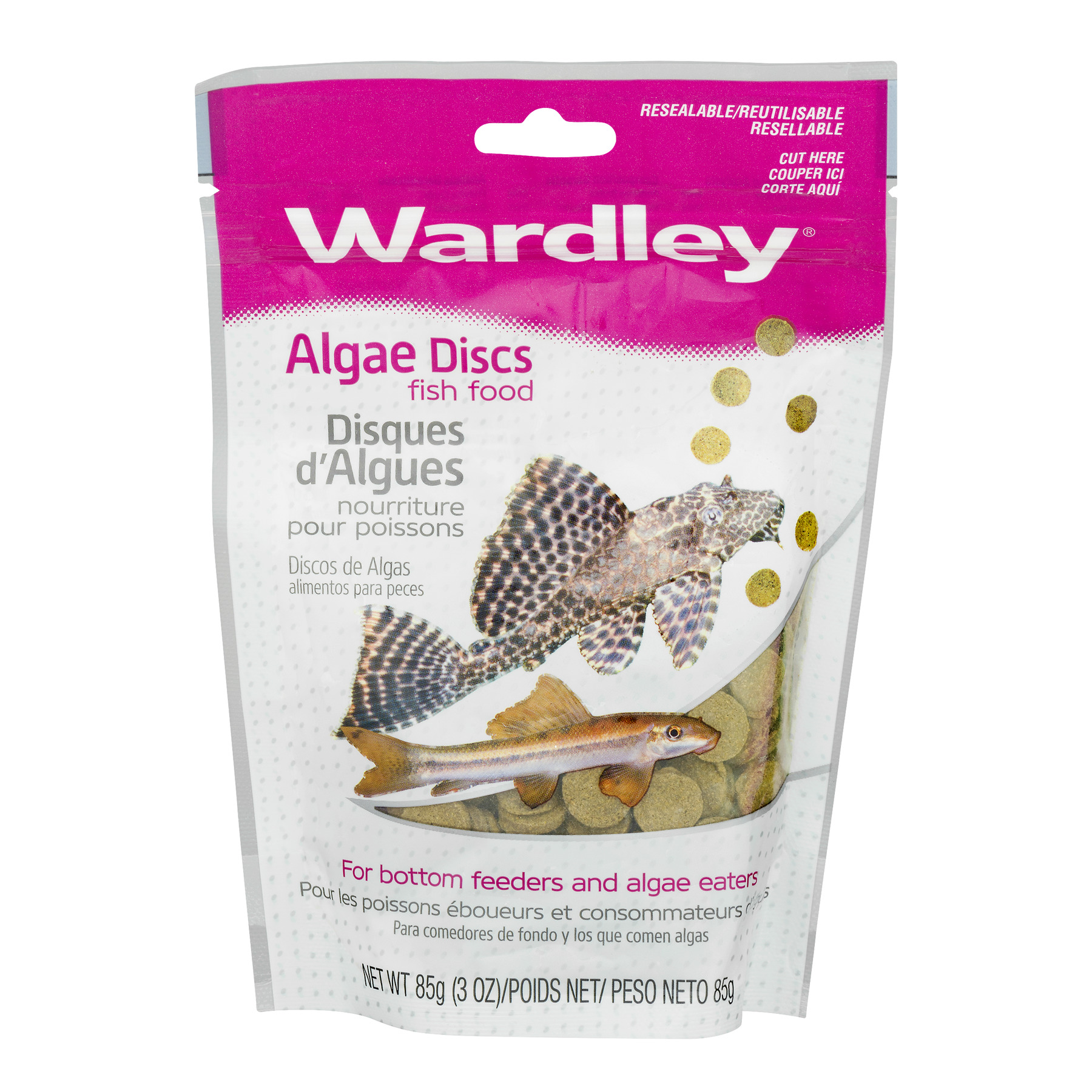 Wardley Algae Discs Fish Food, 3.0-oz.