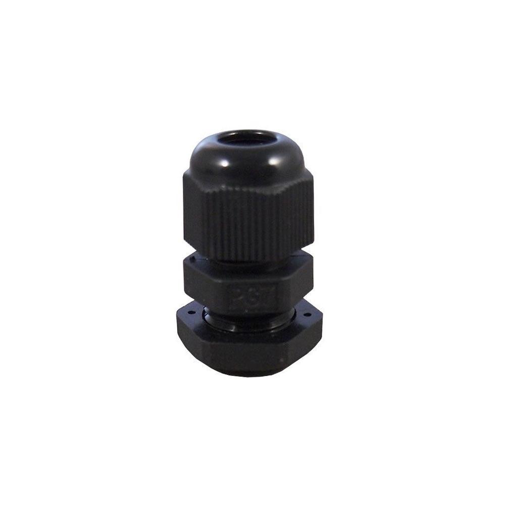 14 Pcs PG7 3-6.5mm Nylon Locknut Waterproof Cable Glands Connectors Black