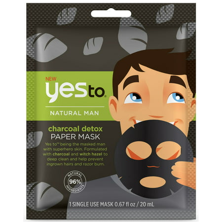 Yes To Natural Man Charcoal Detox Paper Mask Single Use Face Mask - Demon Mask