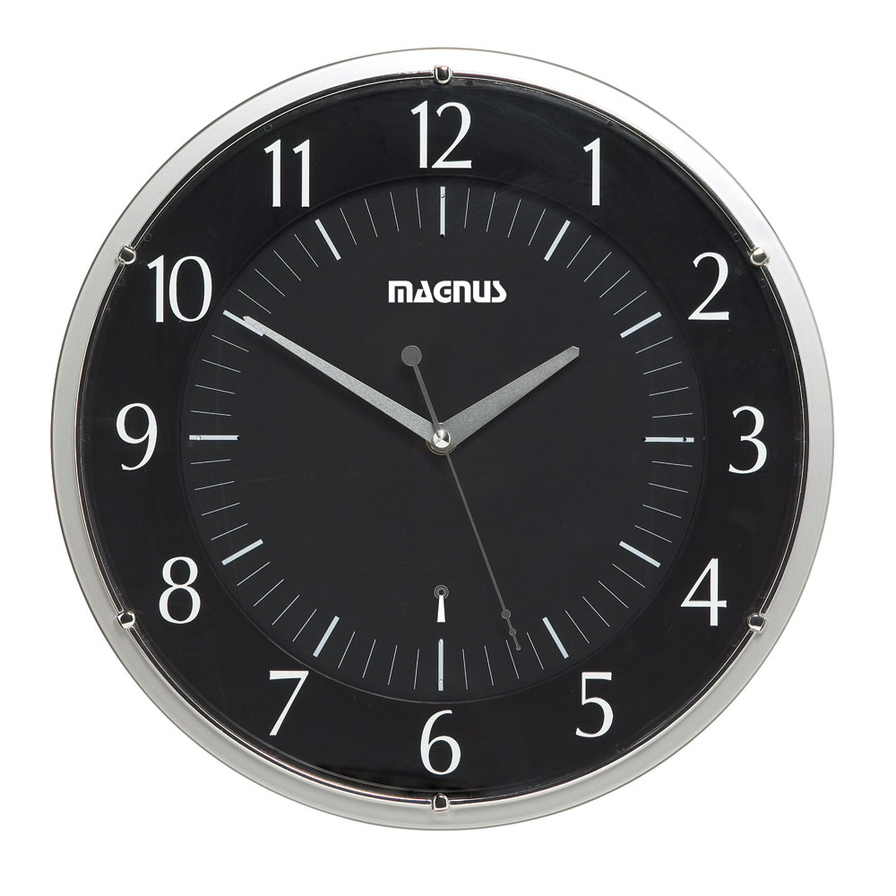 Dainolite RC4607-BK Atomic Radio Controlled Clock Black