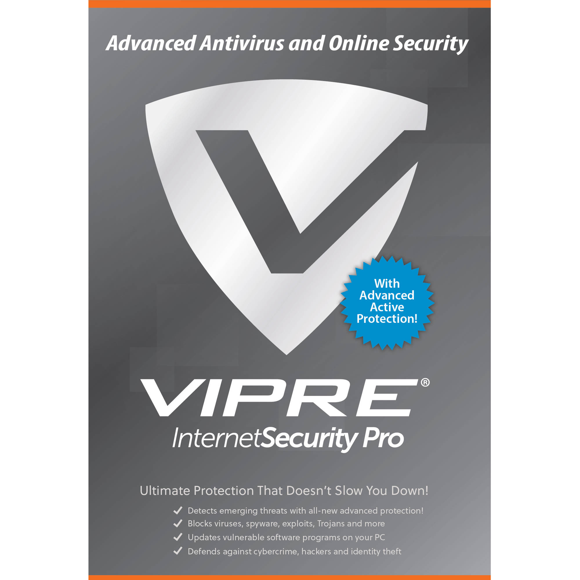 ThreatTrack VISP31Y2016ESD-000US VIPRE Internet Security Pro, 3 PCs, 1 Year (Email Delivery)