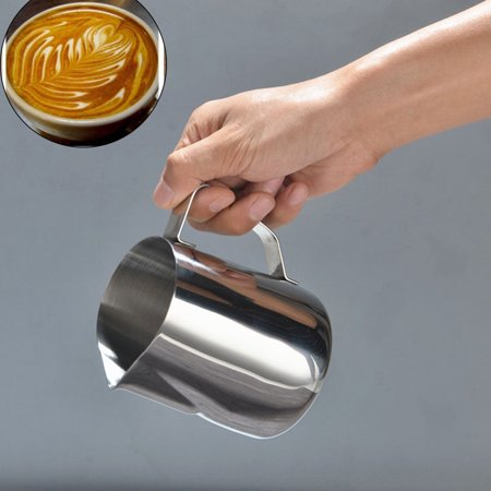 Stainless Steel Milk Frothing Pitcher Cappuccino Pitcher Pouring Jug Espresso Cup Creamer Cup for Latte Art](Milk Jugs For Halloween)