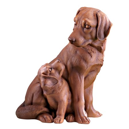 Father and Son Labrador Retrievers Garden Statue - Outdoor Decorative Realistic Statue for Yard, Garden, or Any Room in Home