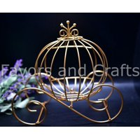Gold Cinderella Pumpkin Carriage Wedding Centerpiece Coach Carroza Cenicienta