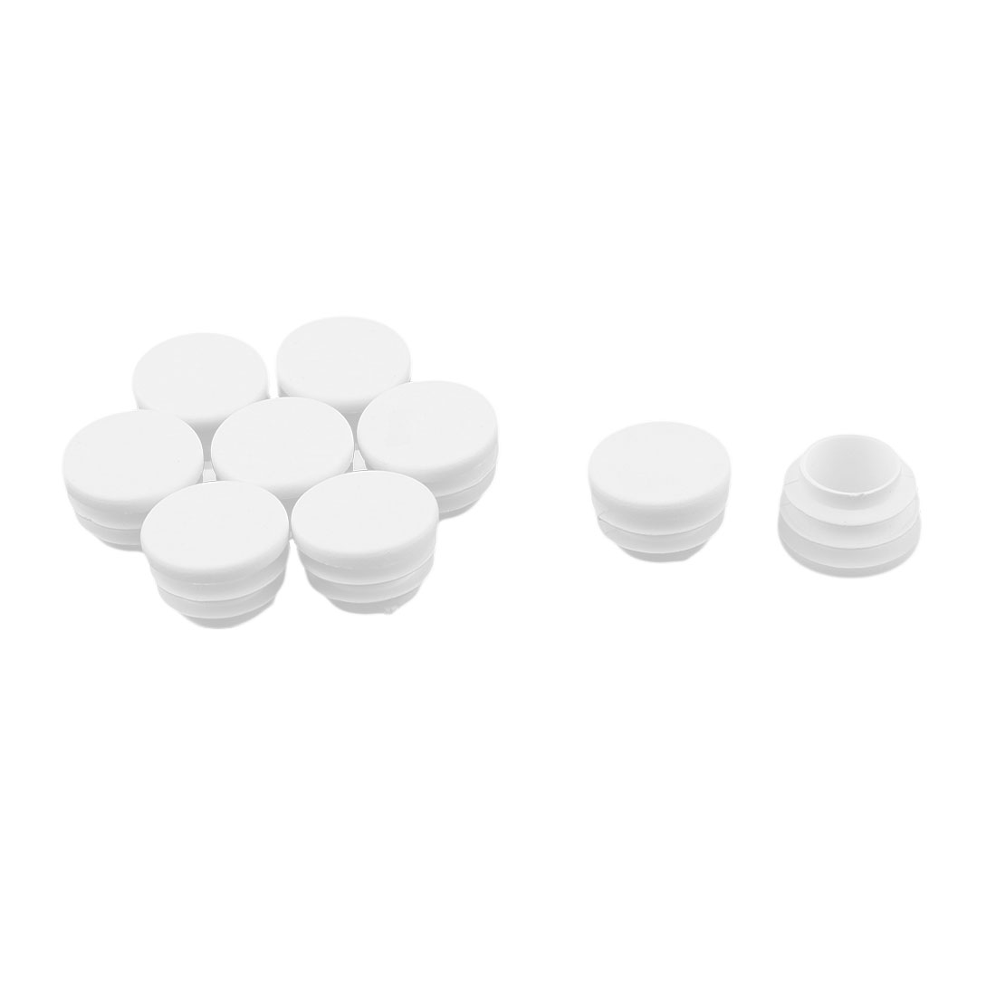Office Dust Resistant Cabinet Table Desk Leg Tube Pipe Insert End Cap White 9pcs - image 3 of 3