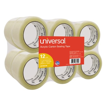Universal General-Purpose Acrylic Box Sealing Tape, 48mm x 100m, 3