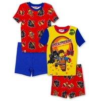 Boys' Lego Movie 2 4 Piece Pajama Short Set (Little Boy & Big Boy)