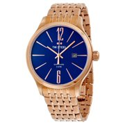 TW Steel Slim Line Blue Dial Rose Gold-tone Stainless Steel Mens Watch TW1309