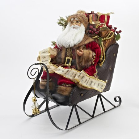 20 On Metal Gift Laden Sleigh Table Top Decoration