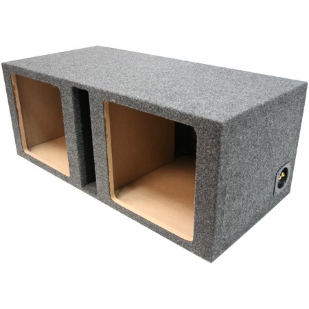 Dual 15 Kicker Car Audio Ported Square L3 L5 L7 Subwoofer Enclosure Bass Sub Box ()