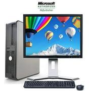 "Dell Desktop Computer Tower Windows 10 Intel Core 2 Duo Processor 4GB RAM 160GB Hard Drive DVD Wifi Webcam with a 17"" LCD - Refurbished PC"