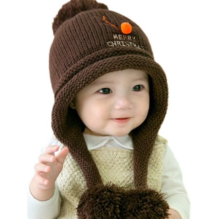 Baby Beanie For Boys Girls Cap Christmas Cotton Ball Hat Warm Children Hats - Fancy Christmas Hats