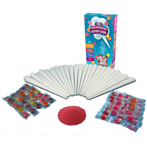 Nostalgia HCK800 Hard and Sugar-Free Candy Cotton Candy Party Kit