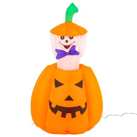 Halloween Haunters Animated 5ft Inflatable Pop Up Pumpkin Ghost Yard Decoration
