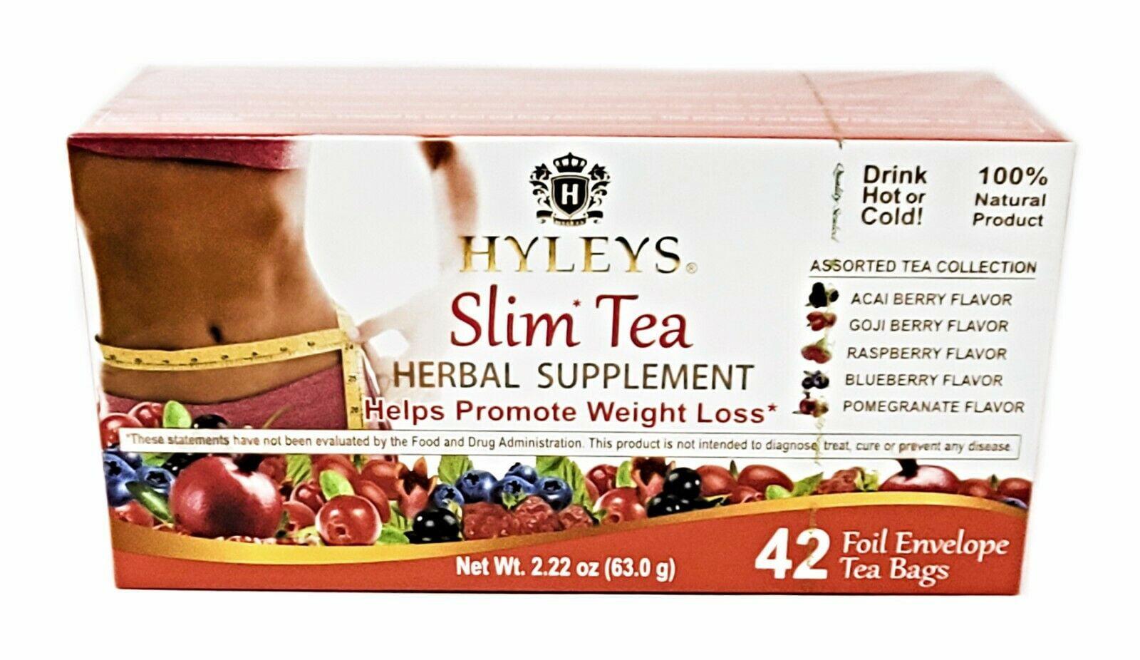 Hyleys Slim Tea Assorted Tea Collection 42 Tea Bags Weight Loss