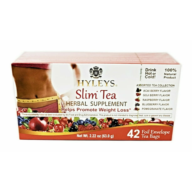 Hyleys Slim Tea Assorted Tea Collection 42 Tea Bags Weight Loss