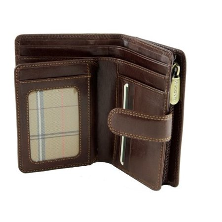 Visconti Monza -11 Ladies Large Italian Brown Soft Leather Purse/Wallet