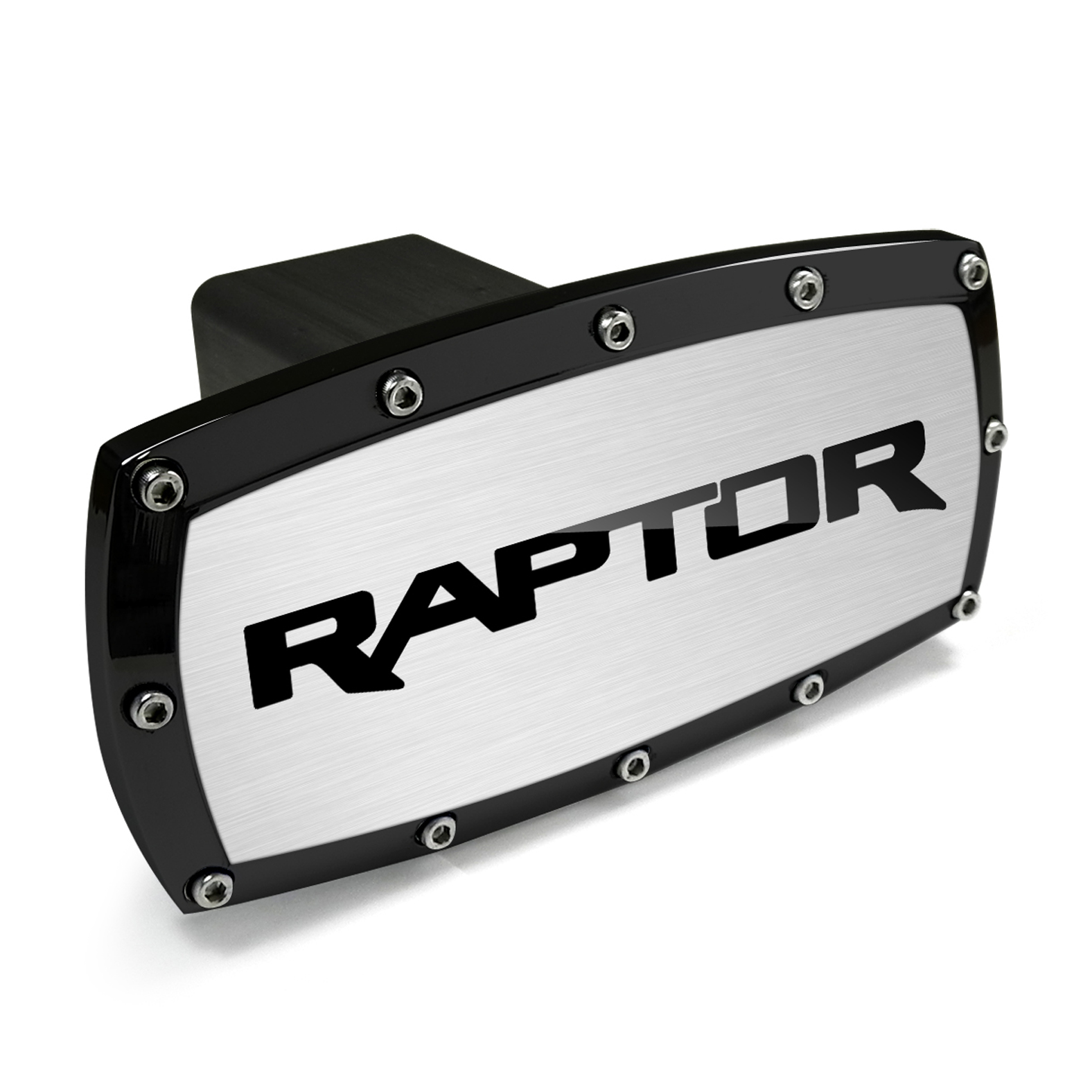 Ford F-150 Raptor Black Trim Billet Aluminum Tow Hitch Cover