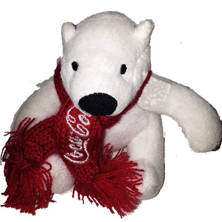 Promotional Four - Coca Cola Plush Polar Bear with Red Scarf 4