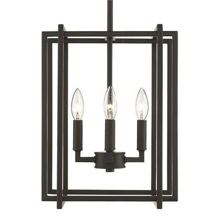 Golden Lighting 6070-4 BLK-BLK Tribeca 4-Light Chandelier with Black Accents, Black - image 1 de 1