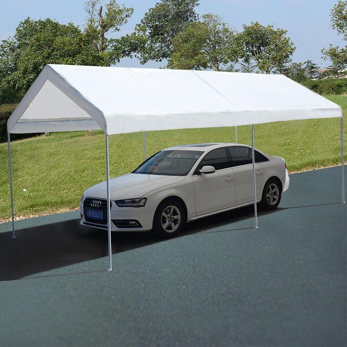 Apontus 10 x 20 Steel Frame Canopy Shelter Portable Car ...