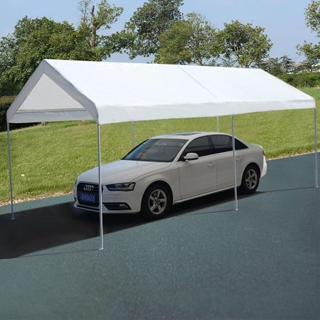 Apontus 10 x 20 Steel Frame Canopy Shelter Portable Car Carport Garage  Cover Party Tent
