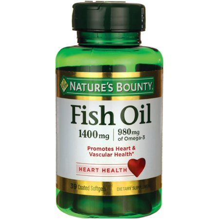 Natures Bounty Fish Oil 1400 Mg Omega 3 Softgels 39 Ea