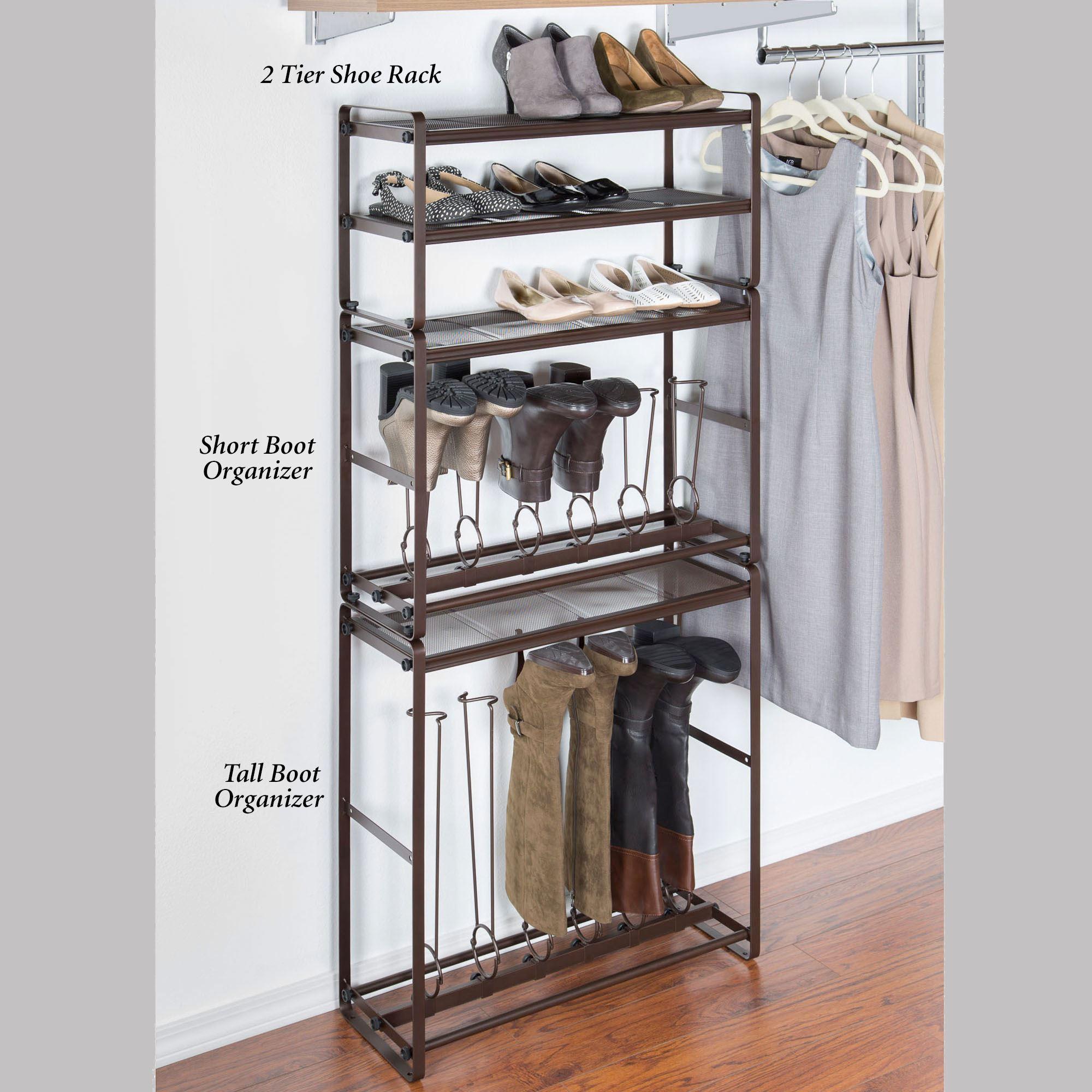 Interlocking Boot and Shoe Rack Storage System