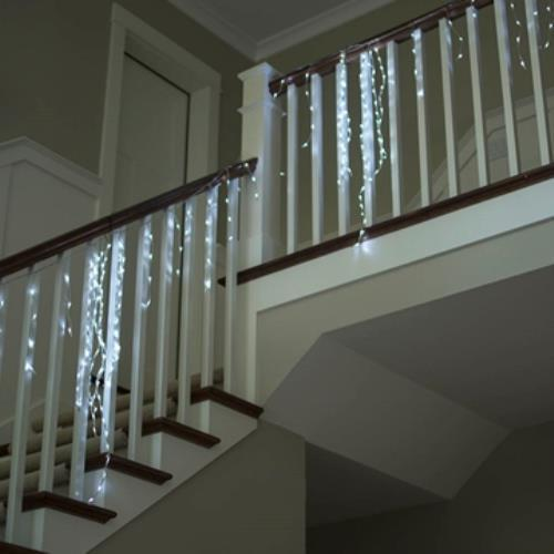 Commercial Grade Icicle Lights, LED, 127ft, Multifunction...